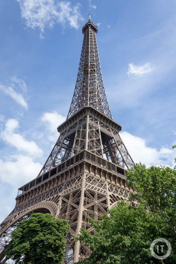 The Eiffel Tower shot from the back