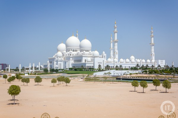 Nice overview shot of the Grand Mosque