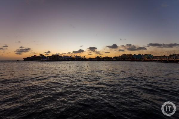 The sunset over Otrobanda in Willemstad, Curaçao